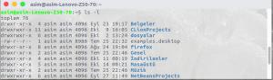 linux dosya izinleri