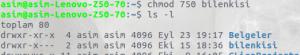 Linux Dosya İzinleri