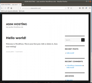 WordPressKurulumu Pardus