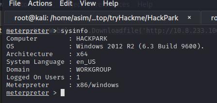 HackPark Çözümü -Tryhackme